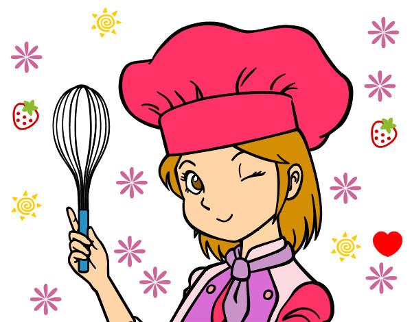 cozinheira-profissoes-cozinheiros-pintado-por-alinexavie-1030295